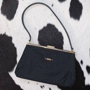 Vintage Longchamp monogram top handle shoulder bag